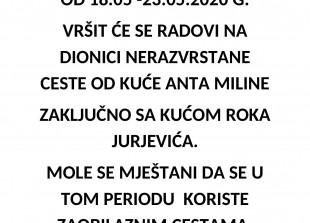 OBAVIJEST MJEŠTANIMA MALE POSTRANE-1